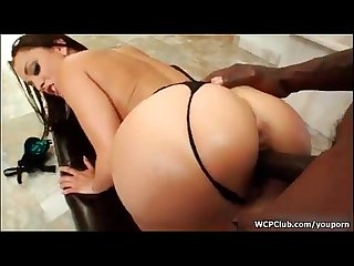 Busty brunette liza del Sierra gets her ass and cunt banged by a big black cock