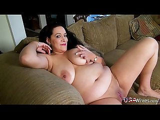 Usawives horny chubby grandma toy masturbation