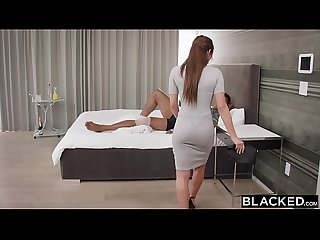 Blacked nurse can t resist bbc on a house call