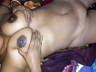 Horny Desi big boobs wife give handjob n hard nip press