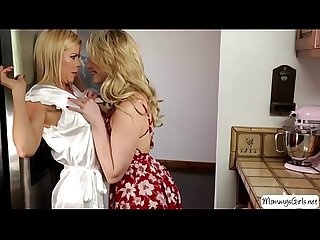 Busty hot milf Alexis fawx exposes her huge tits while mia malkova fantasizes on