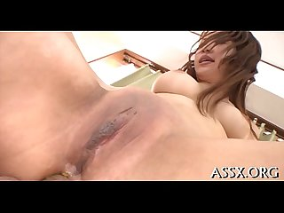 Oriental cowgirl riding and anal toying