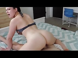 Skinny Brother Fucks His Sexy Stepsister with Small Tits on Webcam