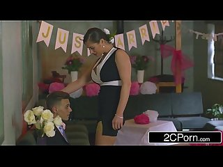 Slutty bridesmaid mea malone and horny mother in law cathy heaven give blowjob
