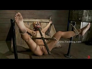 Sex slave in extreme bondage and deepthroat sex by sadomaso master