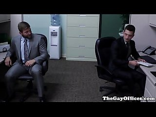 Ripped officehunk pounds newbie