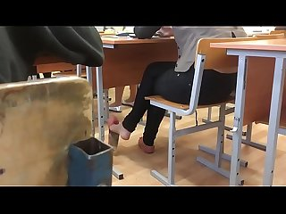 Cams4free net candid schoolgirl shoeplay in flats