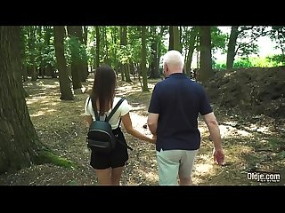 Russian Teen Romantic Sex with old man horny and fuckable