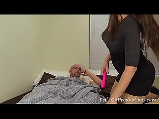 Horny mom blackmails stepson