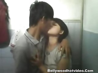 Indian tribal girl chuang mow getting fucked in bathroom