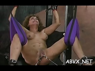 Taut pussy extreme bondage in home xxx video