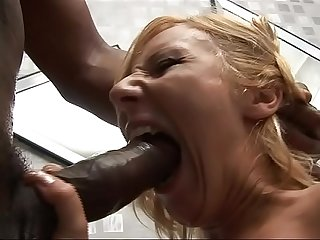 Huge black cock for interracial blow jobs!