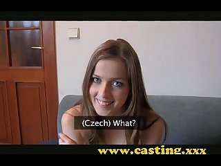 Casting teen gets her first creampie