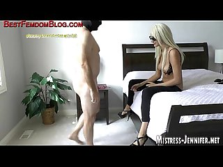 Yoga pants on femdom Mistress help Her dominate male slave