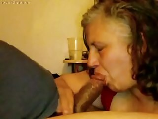 Granny lynne pees gets face fucked and a mouthful of cum