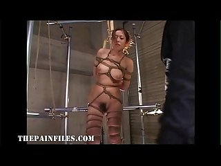 Suspended japanese slavegirl in asian bdsm and sexual domination of oriental tee