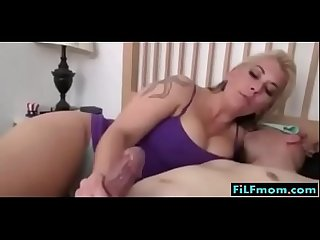 Hot mom gives son a handjob free full family sex videos at filfmom com