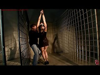 Innocent girl in strict rope bondage. BDSM movie.Hardcore bondage sex.