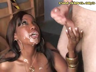 Interracial cum shower