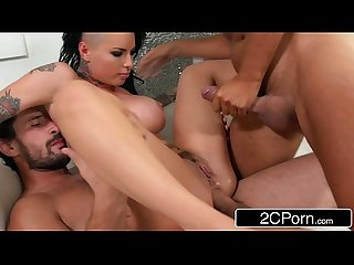 Punk pornstar christy mack s first double penetration scene