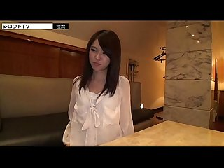 Asian girl in hotel room