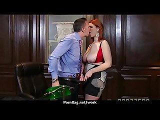 Busty chick is desperate for a raise and fucks her boss and earn it 4