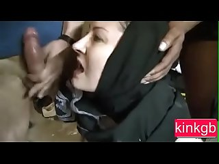 Girl in burkha got Forced gangbang
