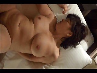 Horny Japanese Milf kui somya hardfucking and creampie