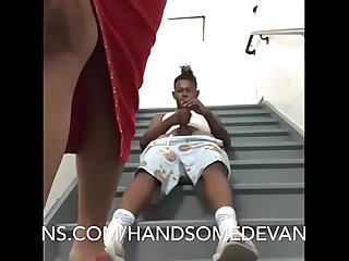 Handsomedevan fucks vanity vixen in on the staircase of his hotel