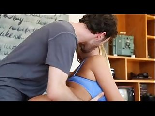 Little show off britney young gets wrecked by james deen