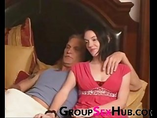 Daughter watches porn with dad watch more free porn on groupsexhub com