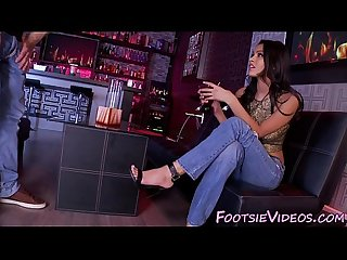 Babes feet fucked in bar
