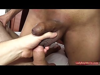 Ladyboy Milk Sucking Raw Dick and Riding It