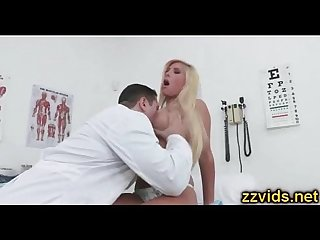Sexy blonde Tasha Reign fucked by horny doctor