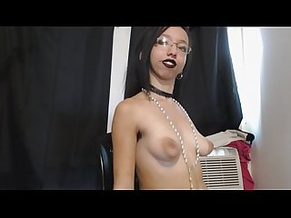 Petite goth girl with hairy armpits jiggles and bounces tits everywhere comma big nipples