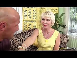 Old woman dalny marga takes young big dick