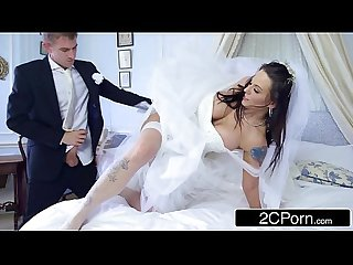 Busty hungarian bride to be simony diamond fucks her husband S best man