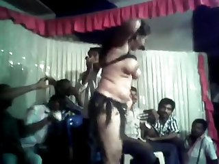 Naked Aunty dancing with tits and pussy open