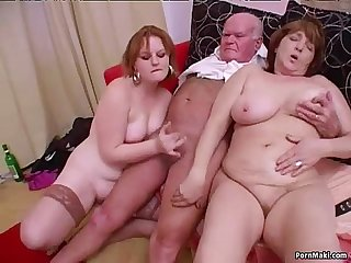 Crazy granny Groupsex