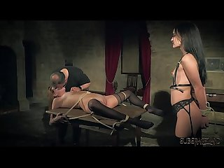 Kinky sex game and bondage sex for two slaves ready to please you