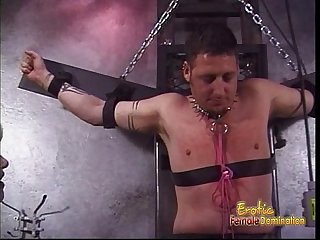 Horny dude has his cock pleasured in numerous really kinky ways