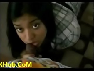 Hot student taniya giving blowjob to teacher
