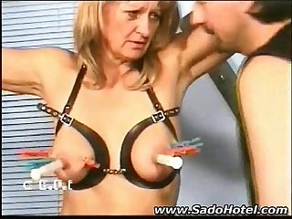 Mature blonde punishment custom
