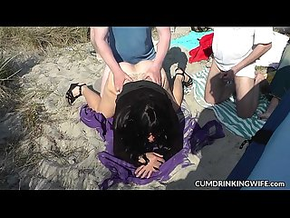 Dogging gangbang fun 2016 with slutwife marion