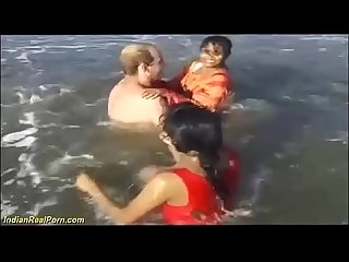 wild indian sex fun on the beach