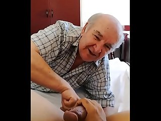 My grandfather sucks my dick and swallows my sperm