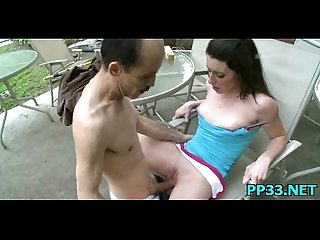 Slim and horny girl has perfect little tits