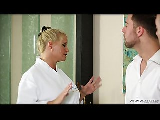 Maya devine fucks with the inspectors nurumassage