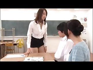 Japanese milf teacher teachs student for sex in front of student S mother pt2 on filfcam com