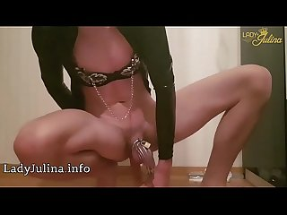 Lady julina latex sissy maxime mit kg anal dildo vibrator lovense hush